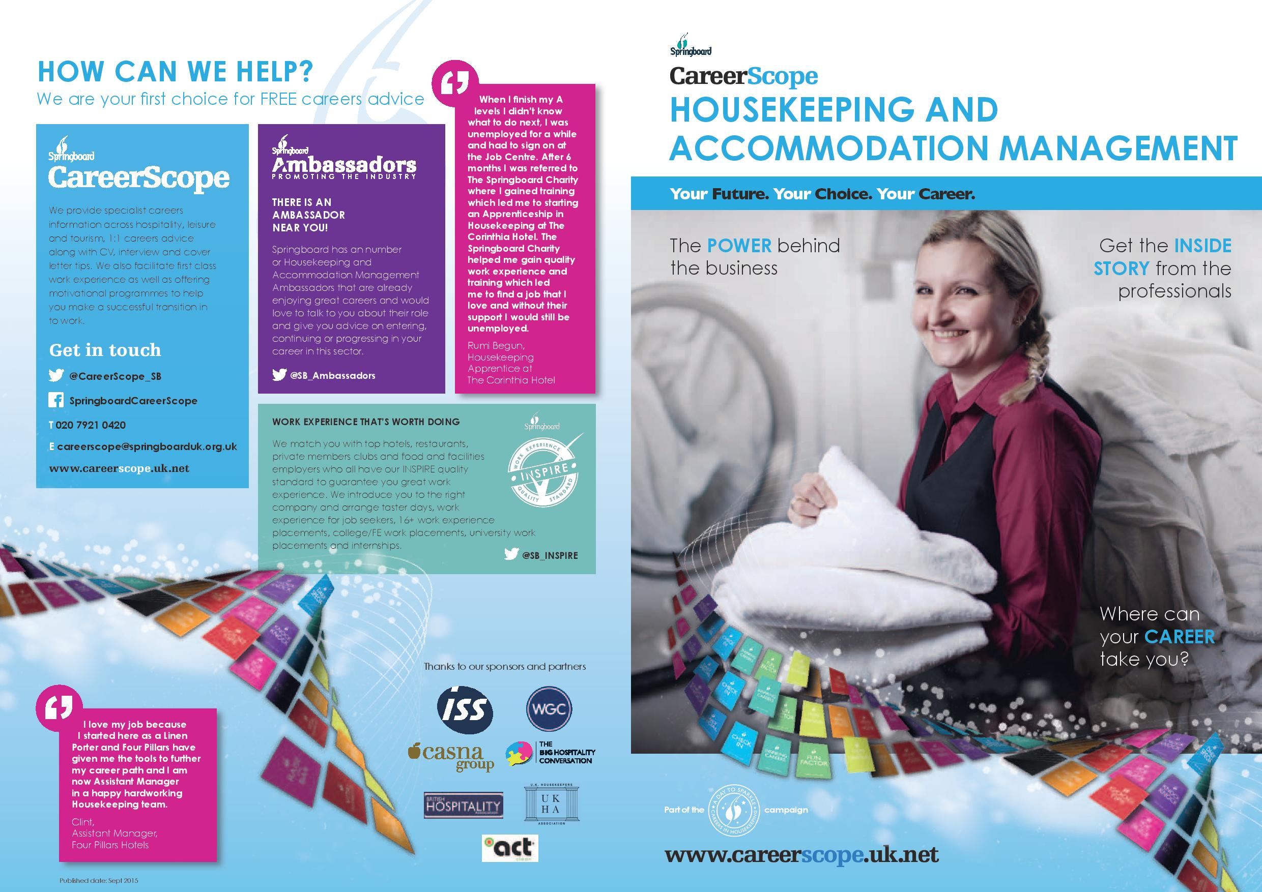 Job opportunities created in Housekeeping and Accommodation Management