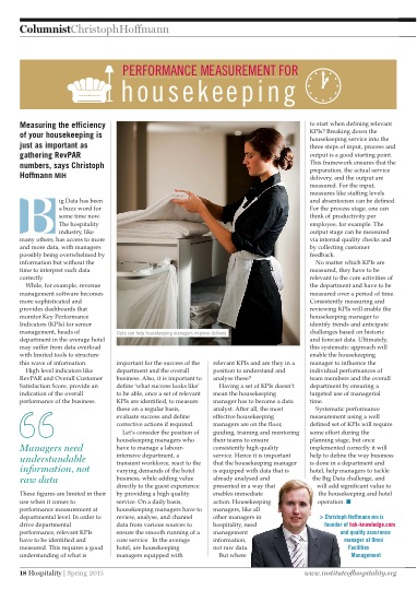 Performance Measurement for Housekeeping